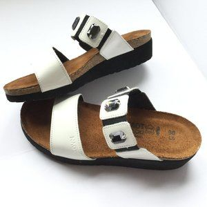 Naot Size L5 36 White Sandals Michelle style